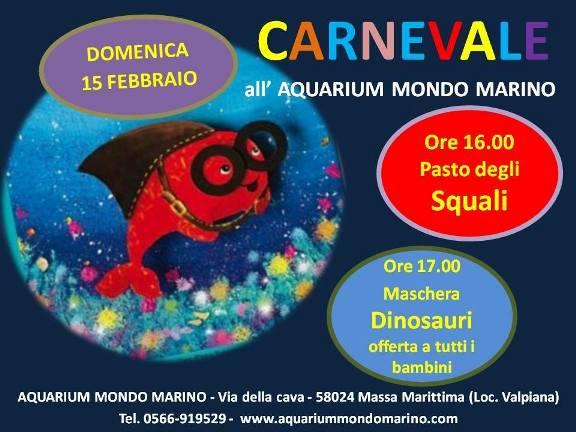 carnevale all'aquarium mondo marino 15.2.2015 - www.lavocedelmarinaio.com