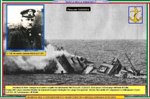 21.3.1918 Piroscafo Termini -Antonio Migliaccio - www.lavocedelmarinaio.com