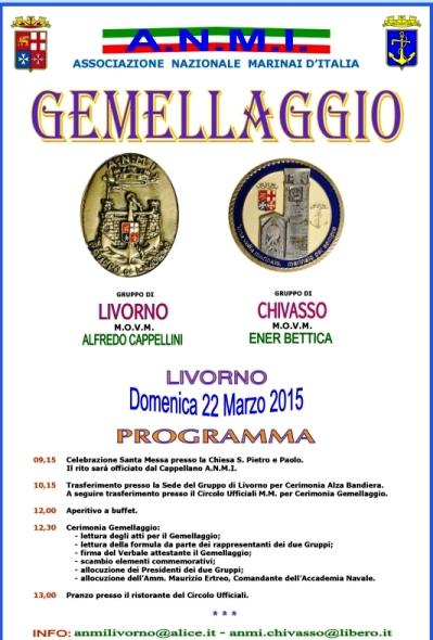 22.3.2015 a Livorno gemellaggio gruppi anmi - www.lavocedelmarinao.com