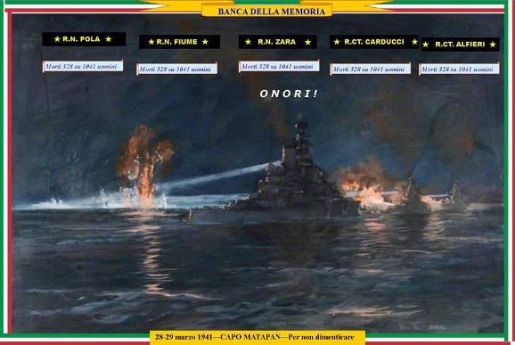 28-29 marzo 1941 - Capo Matapan  www.lavocedelmarinaio.com