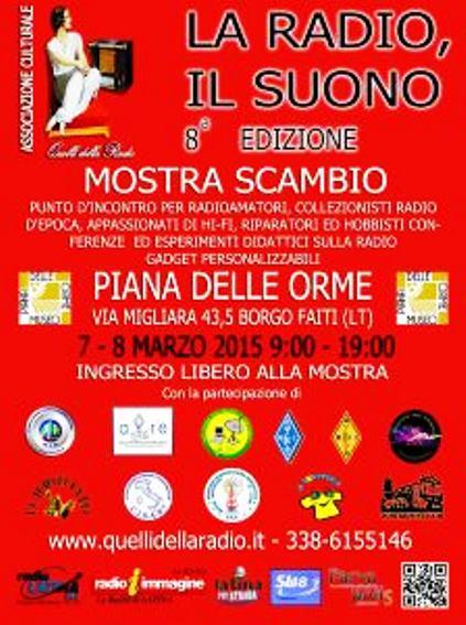 7-8.3.2015 a Borgo Faiti Latina la radio, il suono - www.lavocedelmarinaio.com