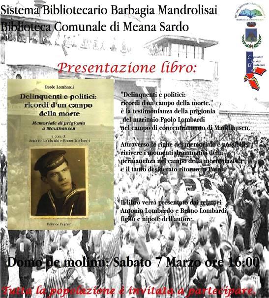 7.3.2015 a Meana Sardo presentazione libro Delinquenti e politici - www.lavocedelmarinaio.com