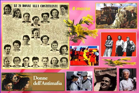 8 marzo le 21 donne della Costiuente e le donne antimafia - www.lavocedelmarinaio.com