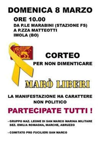 8.3.2015 a Imola per i due Marò - www.lavocedelmarinaio.com