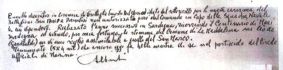 Dichiarazione dell'ammiraglio Egidio Alberti - www.lavocedelmarinaio.com