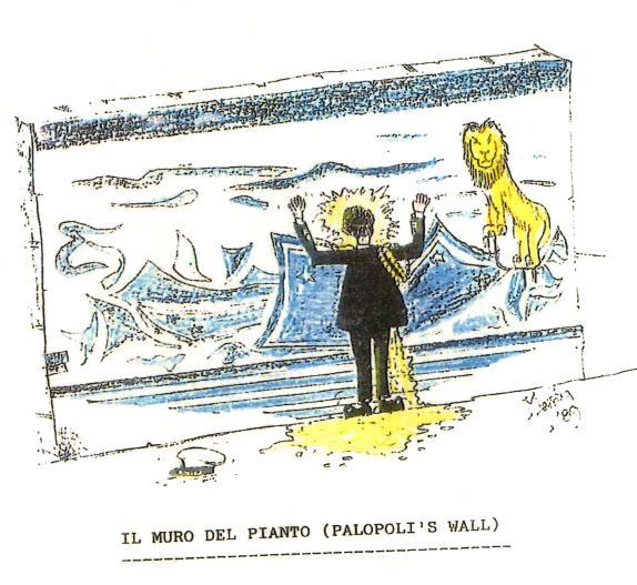 Il muro del pianto (Palopoli's wall) vignetta di Simone Carta p.g.c. a www.lavocedelmarinaio.com