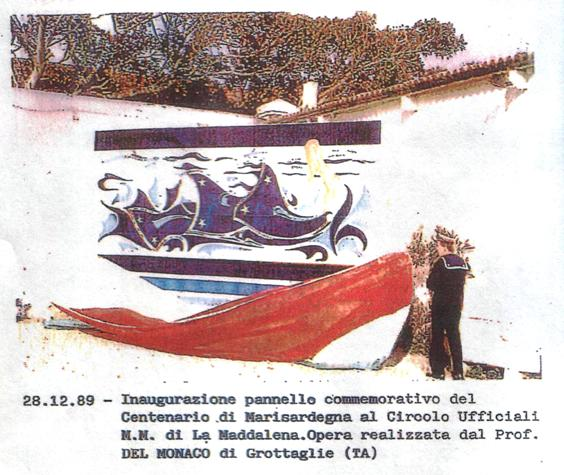 Inaugurazione del pannello commemorativo (28.12.1989) - www.lavocedelmarinaio.com