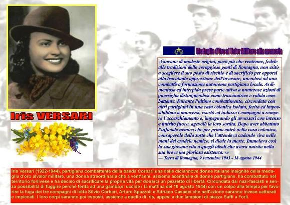 Iris Versari medaglia d'oro al valor militare alla memoria - www.lavocedelmarinaio.com