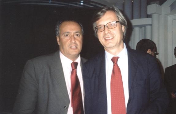 Pancrazio Ezio Vinciguerra e Vittorio Sgarbi - www.lavocedelmarinaio.com