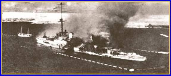regia nave San Giorgio (22.1.1941 autoffondata) - www.lavocedelmarinaio.com