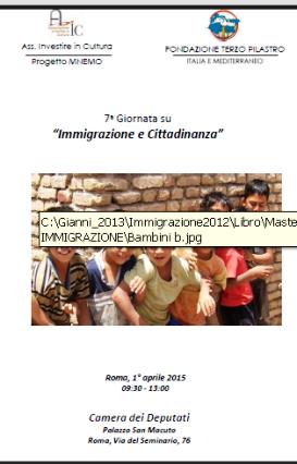 1.4.2015 a Roma 7^ Giornata su Immigrazione e Cittadinanza - www.lavocedelmarinaio.com