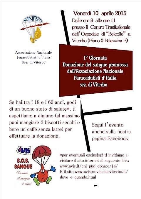 10.4.2015 a Viterbo dona il sangue con i parà - www.lavocedelmarinaio.com