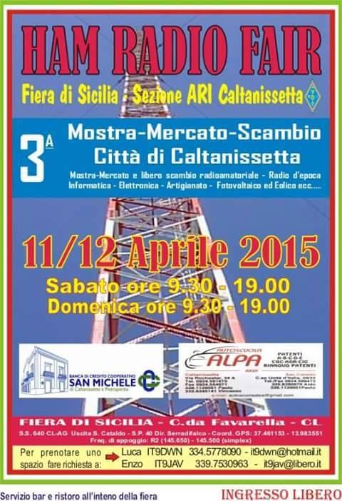 11-12.4.2015 Mostra mercato a Caltanissetta - www.lavocedelmarinaio.com