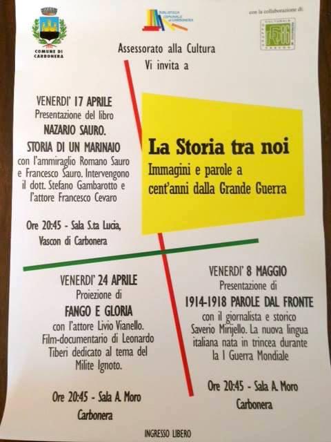 17 e 24.4.1015 La storia tra noi a Carbonera - www.lavocedelmarinaio.com