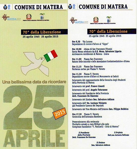 25.4.2015 a Matera