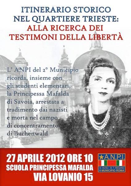 27.4.2015 a Roma - Principessa Mafalda alla ricerca dei testimoni della verità - www.lavocedelmarinaio.com