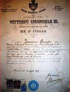 Aniello Iaccarino riconoscimento del re- www.lavocedelmarinaio.com