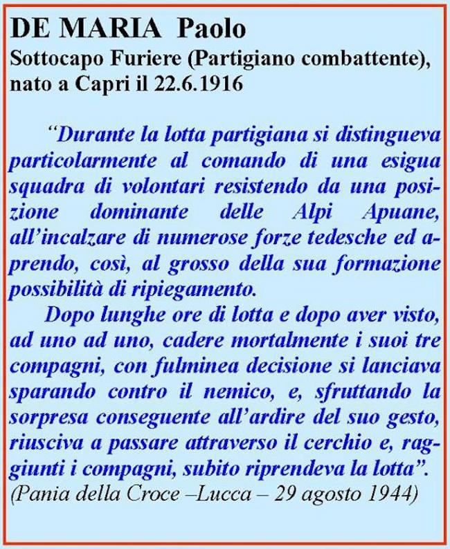 De Maria Paolo Marinaio e partigiano - www.lavocedelmarinaio.com