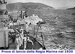 Prove di lancio della regia Marina nel 1930 f.p.g.c. Fanco Iaccarino