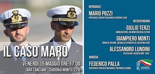 15.5.2015 a Guidonia Monecelio - Il caso marò - www.lavocedelmarinaio.com