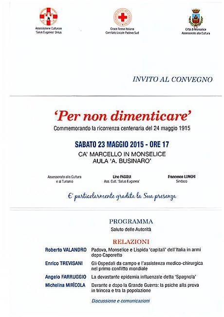 23.5.2015 a Ca' Marcello in Monselice per non dimenticare