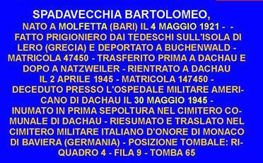 30.5.1945 BARTOLOMEO SPADAVECCHIA