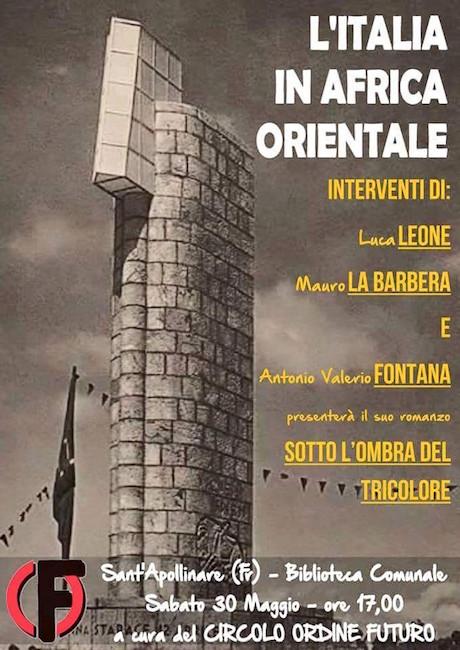 30.5.2015 a Sant'Apollinare (FR) l'Italia coloniale - www.lavocedelmarinaio.com