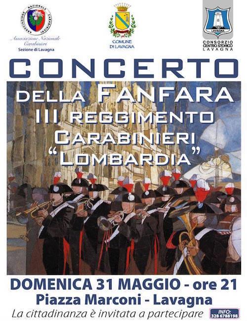 31 maggio 2015 a Lavagna Concerto reggimento carabinieri Lombardia - www.lavocedelmarinaio.com