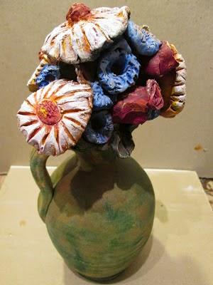 I fiori recisi opera di Giuseppe Tusa (Foto Adele Chiello Tusa p.g.c. a www.lavocedelmarinaio.com)