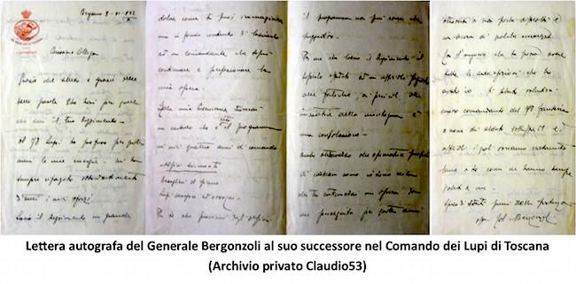 Lettera autografa Generale Bergonzoni (f.p.g.c. Claudio53 a www.lavocedelmarinaio.com)