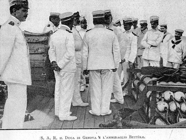 s.a.r. il duca di genova e l'ammiraglio Bettolo