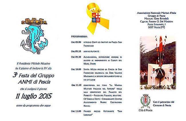 11.7.2015 3^ FESTA ANMI PESCIA - www.lavocedelmarinaio.com