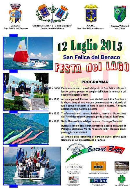 12.7.2015 a San Felice del Benaco Festa del Lago - www.lavocedelmarinaio.com