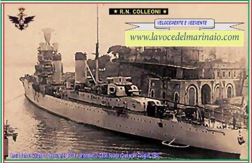 19.7.1940 affondamento regia nave Colleoni - www.lavocedelmarinaio.com