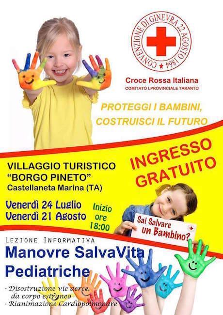 24.7.2015 e 21.8.2015 a Castellaneta Marina Manovre Salva Vita Pediatriche - www.lavocedelmarinaio.com