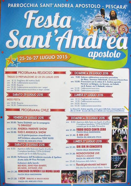 25-27.7.2015 a Pescara festa Sant'Andrea Apostolo - www.lavocedelmarinaio.com