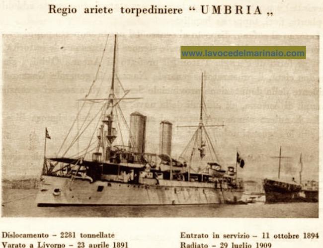 29.7.1909 radiazione nave Umbria