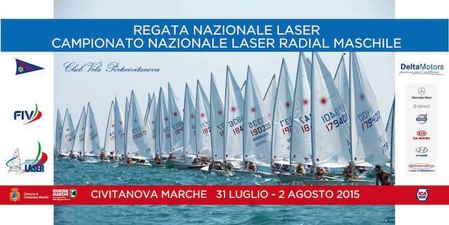 31.7 - 2.8.2015 Civitanova Marche Regata nazionale Laser - www.lavocedelmarinaio.com