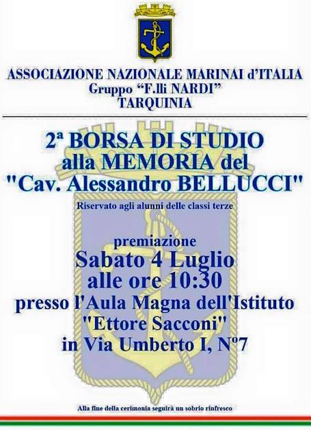 4.7.2015 a Tarquinia borsa di studio alla memoria di Alessandro Bellucci - www.lavocedelmarinaio.com