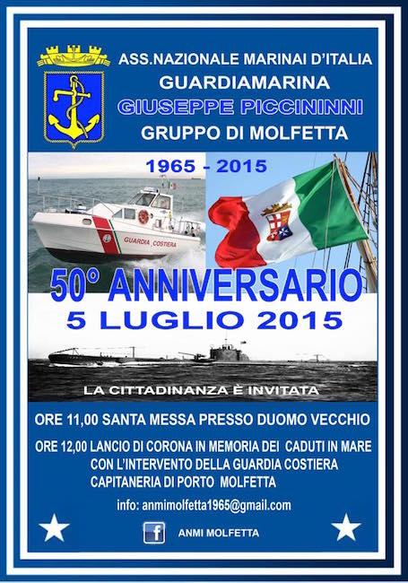 5.7.2015 a Molfetta 50° anniversario - www.lavocedelmarinaio.com