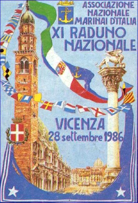 Manifesto XI raduno (1986) a Vicenza - www.lavocedelmarinaio.com