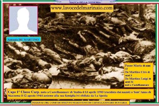12.8.1944 Antonio De Martino, Capo di 1^ classe - www.lavocedelmarinaio.com