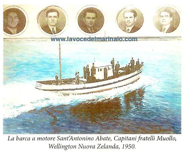 1950 Ex voto - Barca a motore Sant'Antonio Abate, Capitani fratelli Muollo - www.lavocedelmarinaio.com