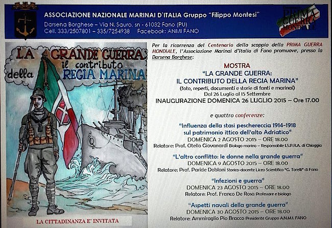 2.8:9.8:23.8.30.8.2015 a Fano ciclo di conferenze su Grande Guerra - www.lavocedelmarinaio.com