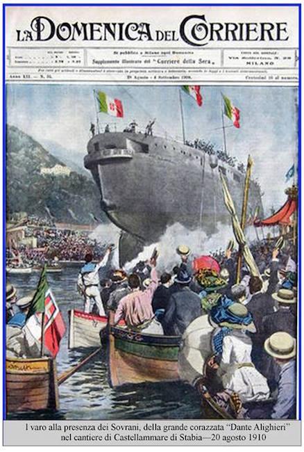 20.8.1910 VARO CORAZZATA ALIGHIERI
