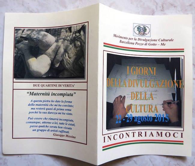 22-29.8.2015 a Barcellona Pozzo di Gotto i giorni della divulgazione - www.lavocedelmarinaio.com