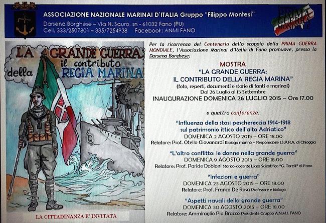 9.8:23.8.30.8.2015 a Fano ciclo di conferenze su Grande Guerra - www.lavocedelmarinaio.com