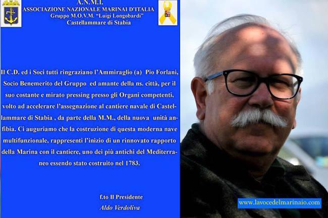 Ammiraglio Pio Forlani per www.lavocedelmarinaio.com