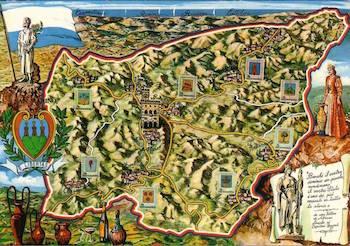 Cartolina d'epoca Repubblica San Marino - foto internet