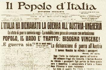 l'italia dichiara guerra all'Austria-Unheria - Il popolo d'italia (foto intenet)